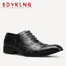 40 45 British style men dress shoes EDVKLNG big size comfortable business brand men font b