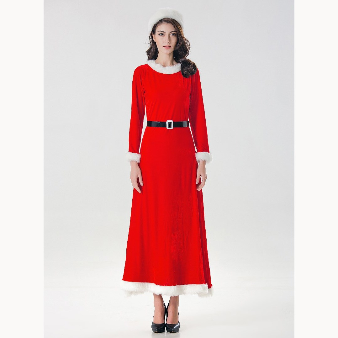 Women's Clothing Open-Minded Lace Pieced-in Sleeveless Large Hemline Dress 50s Hepburn Style Retro Christmas Sleigh Santa Claus Dress