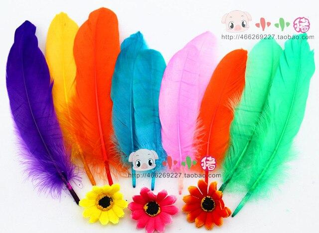 Multicolour Feather Handmade Puncher Diy Feather Mask Kindergarten
