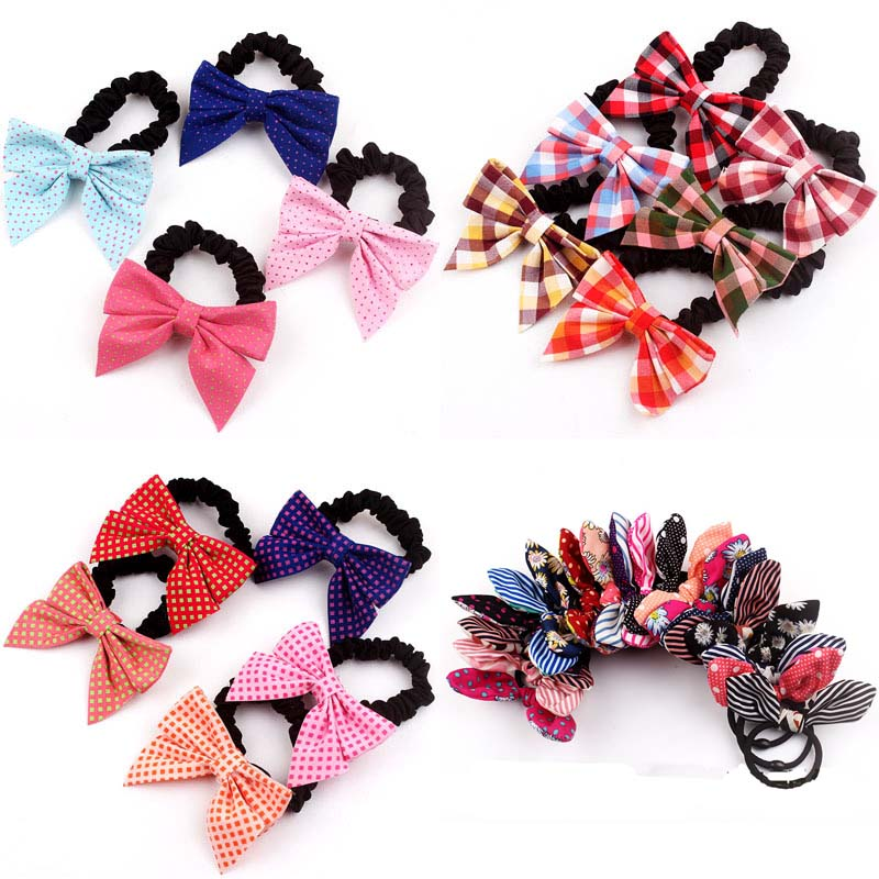 1PCS Bow large Hair Accessories For Women Headband,Elastic Bands For Hair Clips For Girls,Hair Band Hair Ornaments For Kids magic elacstic hair bands big rose decor elastic hairbands hair clips headwear barrette bowknot for women girls accessories