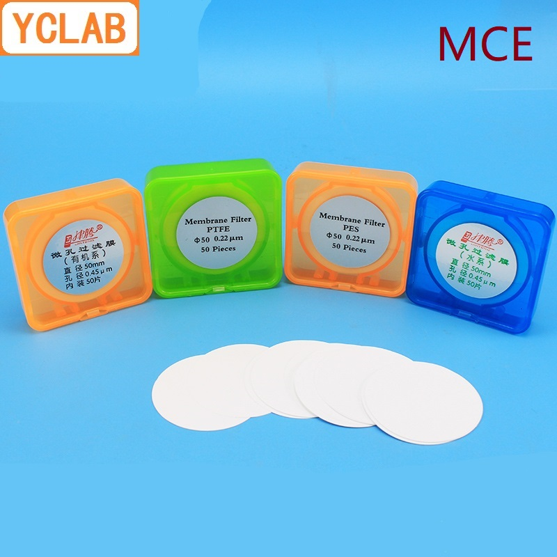 YCLAB MCE Microporous Filter Membrane Diameter 25/47/50/60mm Aperture 0.22/0.45/0.8um 50PCS/PackYCLAB MCE Microporous Filter Membrane Diameter 25/47/50/60mm Aperture 0.22/0.45/0.8um 50PCS/Pack