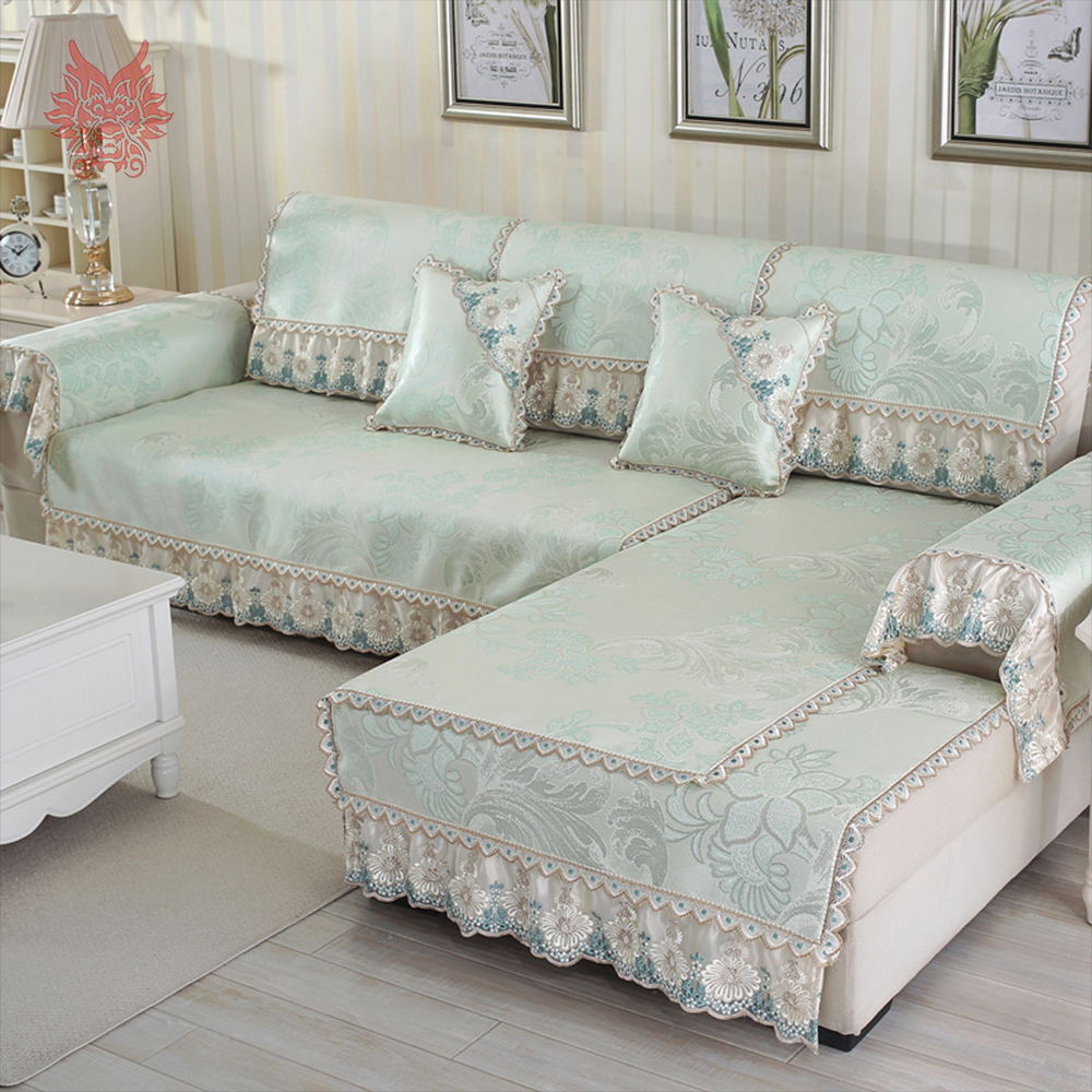 Europe Style Luxury Floral Jacquard Anti Slip Sofa Cover