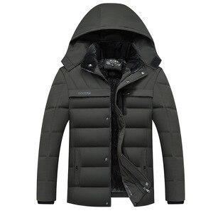 Image 5 - זרוק משלוח חורף מעיל גברים 20 תואר לעבות מעיילים חמים ברדס מעיל צמר איש מעילים להאריך ימים יותר Jaqueta Masculina LBZ31