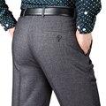 Hombres Pantalones De Traje de Lana Gruesa Pantalones de Trabajo Nuevo Otoño Y El Invierno Vestido Clásico de negocios Ocasionales Rectos Pantalones de Hombre de Gran Tamaño 42 44
