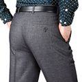 Mens Suit Pants Wool Thick Work Pants New Autumn And Winter Business Casual Straight Classical Dress Pants Male Large Size 42 44