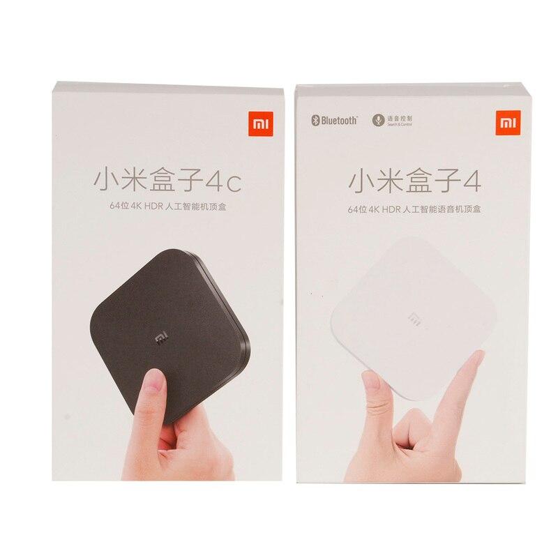 Original XIAOMI Mi Box 4/4C Android TV BOX 6,0 Amlogic Cortex-A53 Quad Core 64bit 1 GB/8 GB 4 K HDR TV Box DTS-HD 2,4G WiFi HDMI