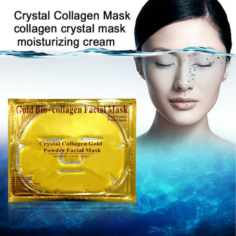 80pcs/lot Gold Bio-Collagen Facial Mask Face Mask Crystal Go