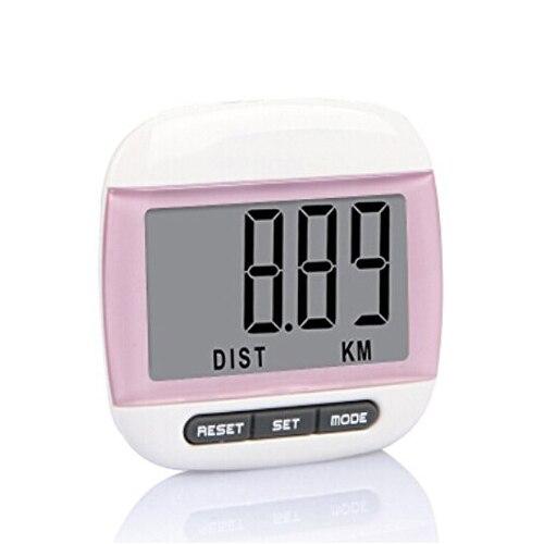 PROMOTION! Multifunktionelle skridttæller Afstand Calorie counter målinger Pink