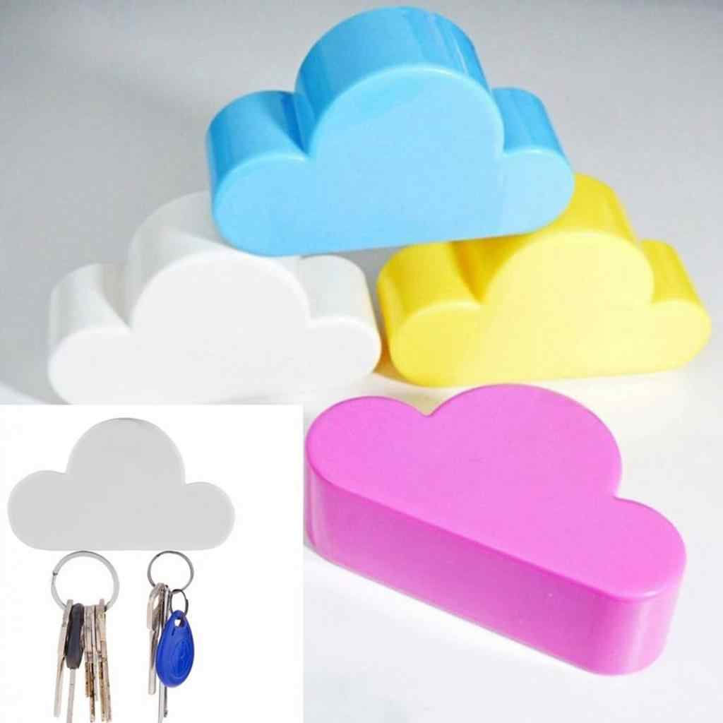 Hot Cloud Shape Magnetic Magnets Wall Key Holder Keys Securely Pink/Yellow