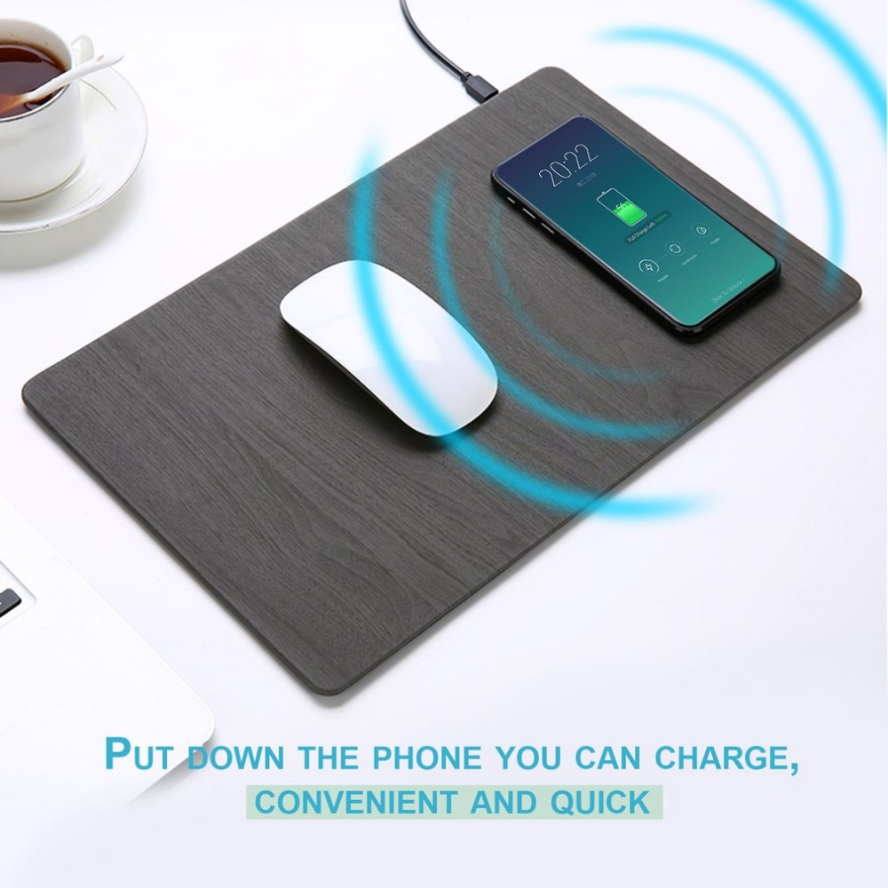 Compact Qi Standard Wireless Charger Mouse Pad Foldable Safe Charging Mat Suitable For iPhone X/8/8 Plus Free Shipping super mini universal qi standard wireless charger charging plate hyacinth