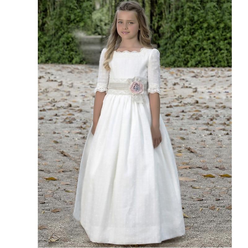 seleccione para mejor 100% autentico diseño de moda Vestido Menina Batizado Primera Comunión Girls Desfile ...