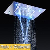 Тропический Душ Concea светодиодный установлен светодиодный Водопад душевой 304 Нержавеющаясталь полированная/Ванная комната Душ Pro
