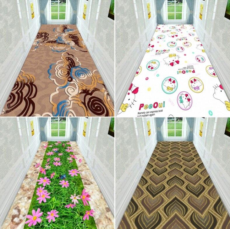 100*200cm Customized 3D Floral Plant Hallway Carpet Pastoral Rugs Corridor Floor Mat Soft Aisle Stairs Anti-slip Long Runner Mat