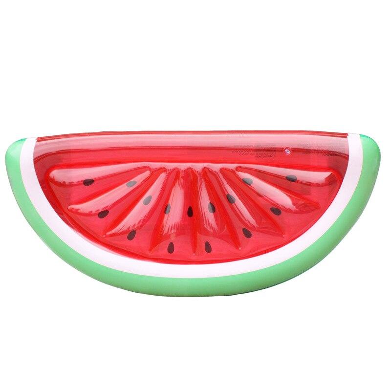 Jouets de lit flottant d'eau de piscine de rangée flottante gonflable de demi-pastèque
