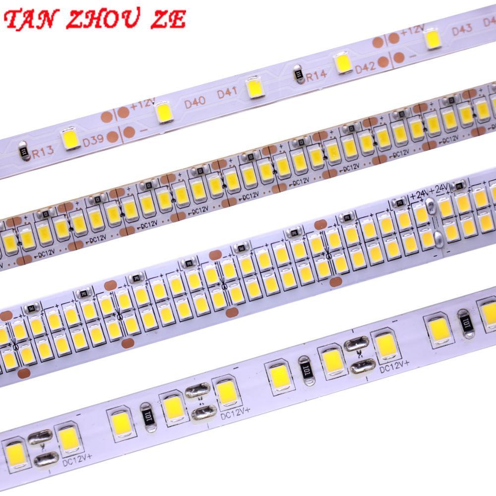 LED Strip 2835 SMD 240LEDs/m 5M 300/600/1200 Leds DC12V High Bright Flexible LED Rope Ribbon Tape Light Warm White / Cold White