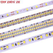 Светодиодная лента 2835 SMD 240 светодиодов/м 5 м 300/600/1200 светодиодов 12 В постоянного тока высокая яркость гибкая светодиодная лента светильник т...