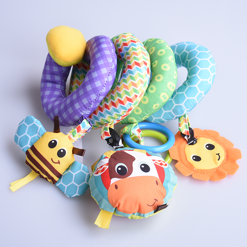 Soft Crib Toys : Baby distorting mirror bed bell toys cot stroller crib