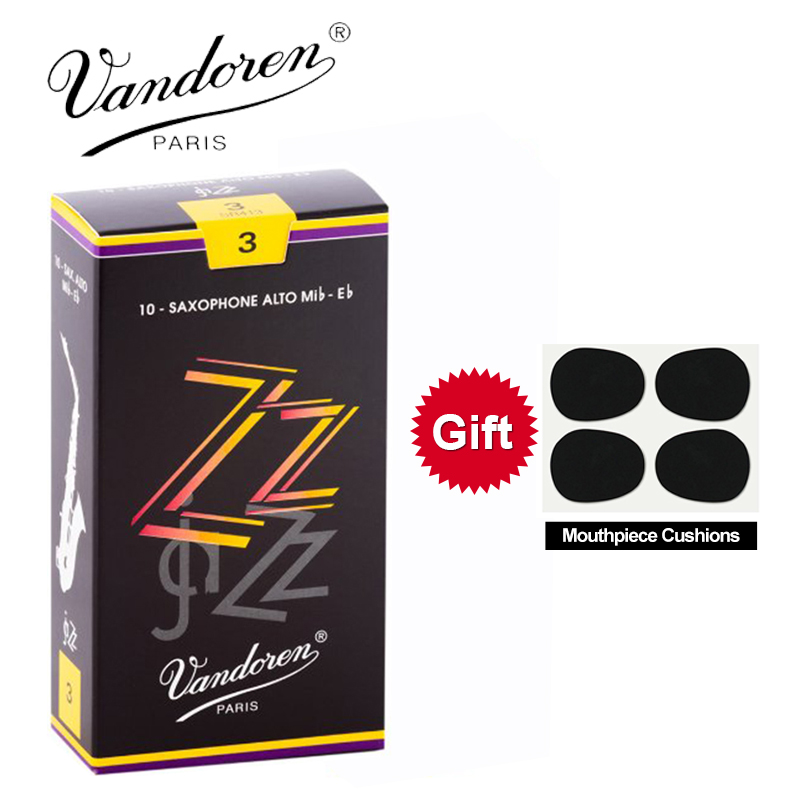 Original France Vandoren ZZ Alto Sax Reeds / Eb Alto saxophone reeds Strength 2.5 #, 3 #, 3.5 # Box of 10 [With Gift]