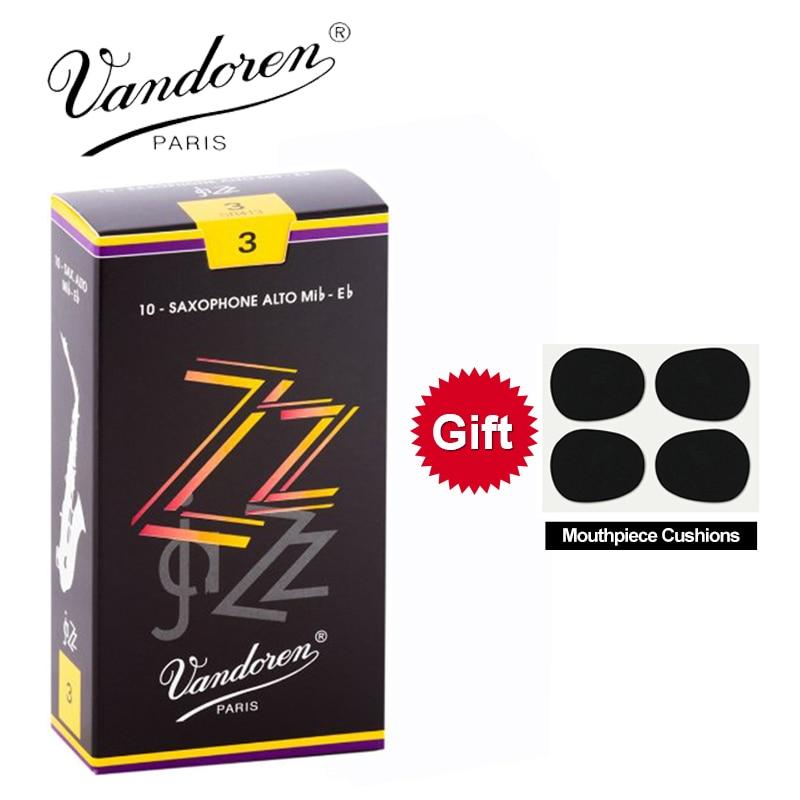 Original France Vandoren ZZ Alto Sax Reeds / Eb Alto Saxophone Reeds Strength 2.5#, 3#,3.5# Box Of 10 [With Gift]