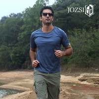 JOZSI 2017 New Men Casual T Shirt Quick Dry Fashion Brand Men Clothes Solid Color Short