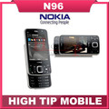 100% unlocked original Nokia Brand N96 phone GSM 3G 16GB internal memory WIFI GPS 5MP,1 year warranty Refurbished Free shipping