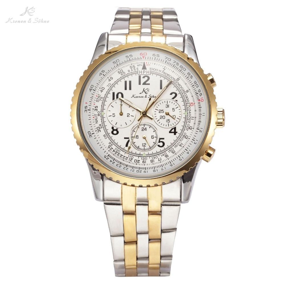 KS Aviator Relogio Masculino Luxury Calendar Automatic Mechanical Mens Full Steel Band Clasp Watch Business Wrist Watches /KS160 lucide настенный уличный светильник lucide xia 17293 02 30