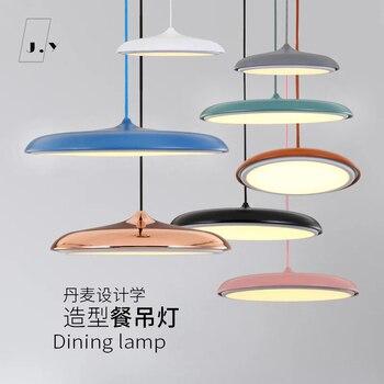 Современная светодиодная Подвесная лампа художественного дизайна металлическая железная подвеска НЛО круглая пластина светильник креати...
