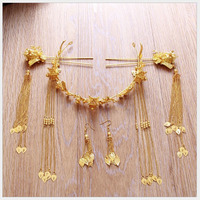The New Chinese Bride Headdress Jewelry Handmade Comb Hair Child Costume Show Wo Clothing Hair Coronet