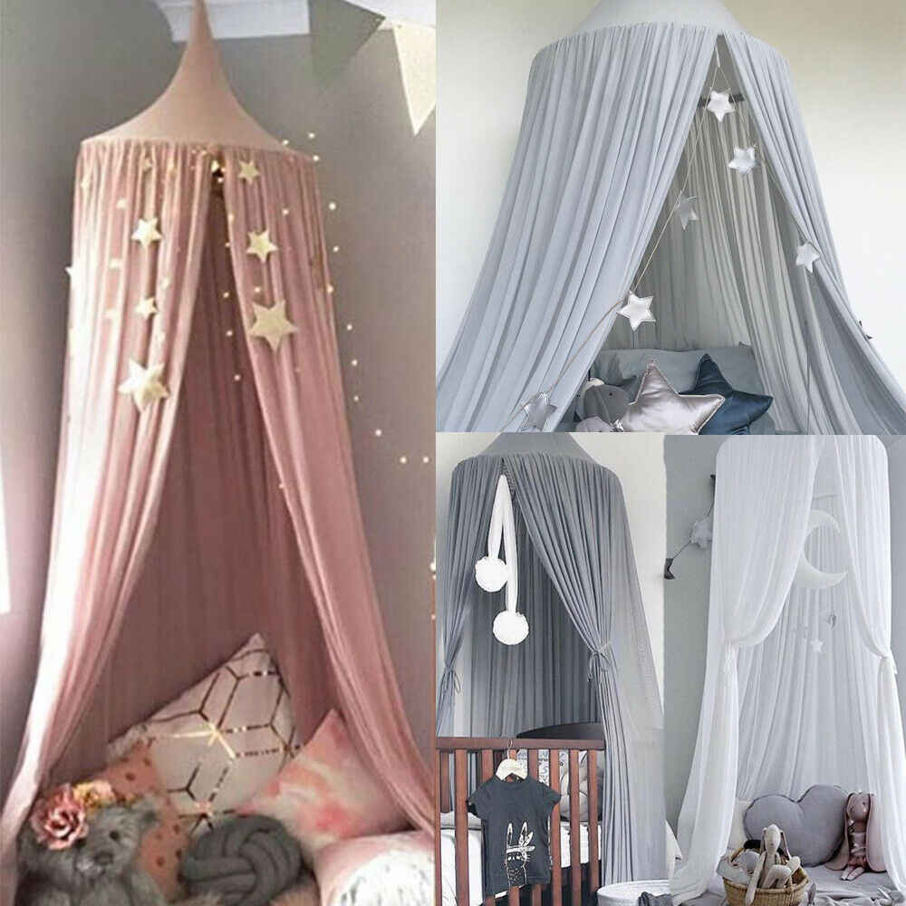 Kids Bed Canopy Bedcover Mosquito Net Curtain Bedding Dome Tent Room Decor