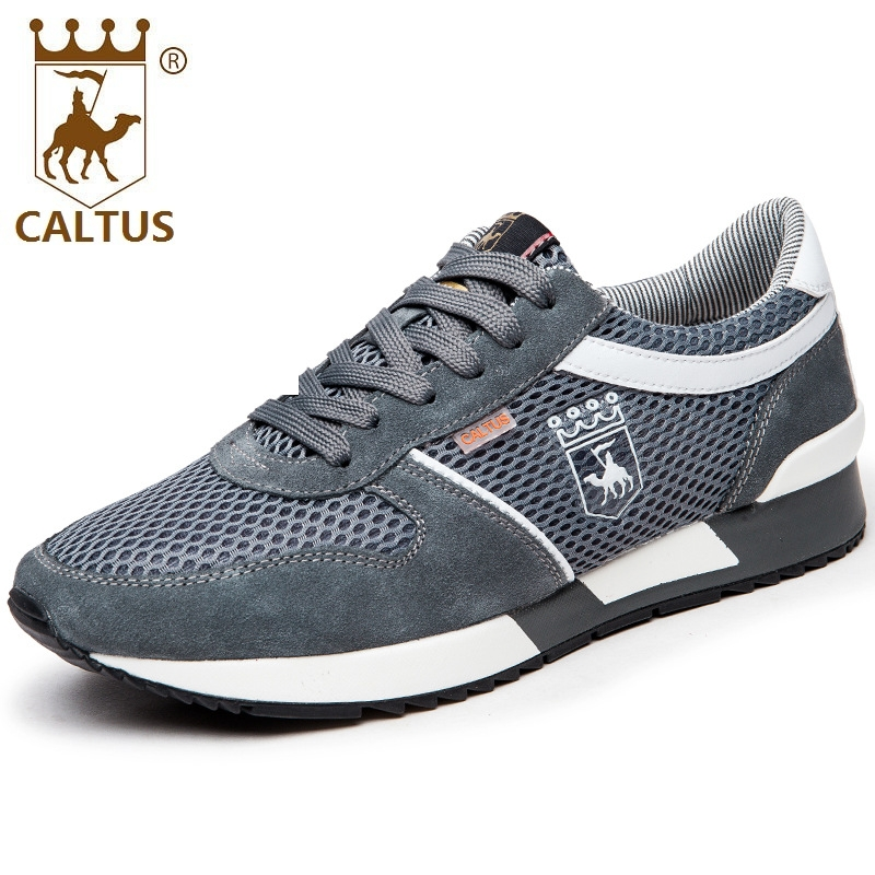 CALTUS Casual Shoes Men Breathable New Fashion Men Oxfords Flats Working Shoes Size 38-44 AA20542