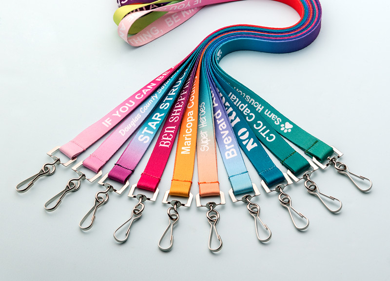 Discount 1pcs plain neck strap lanyard metal clip