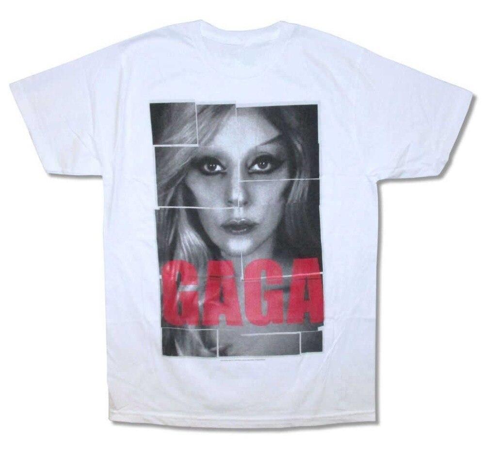Hot CheapS Crew Neck Short Lady Gaga Pop Blocks Premium Mens Tee Shirts