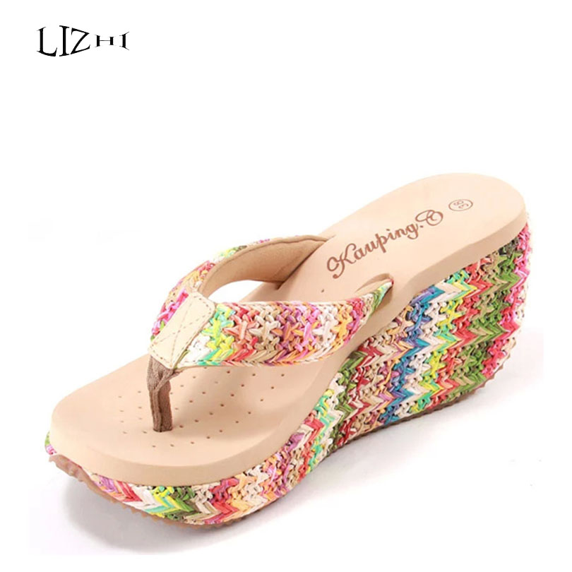 Online Buy Wholesale high heel wedges flip flop from China high ...