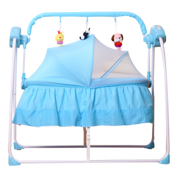 Baby Remote Control Electric CradleBbed Sleeping Basket Baby Shake Bed Newborn Child Automatic  Swming Chair 5 Speed Adjustment|Bouncers Jumpers & Swings|   - title=