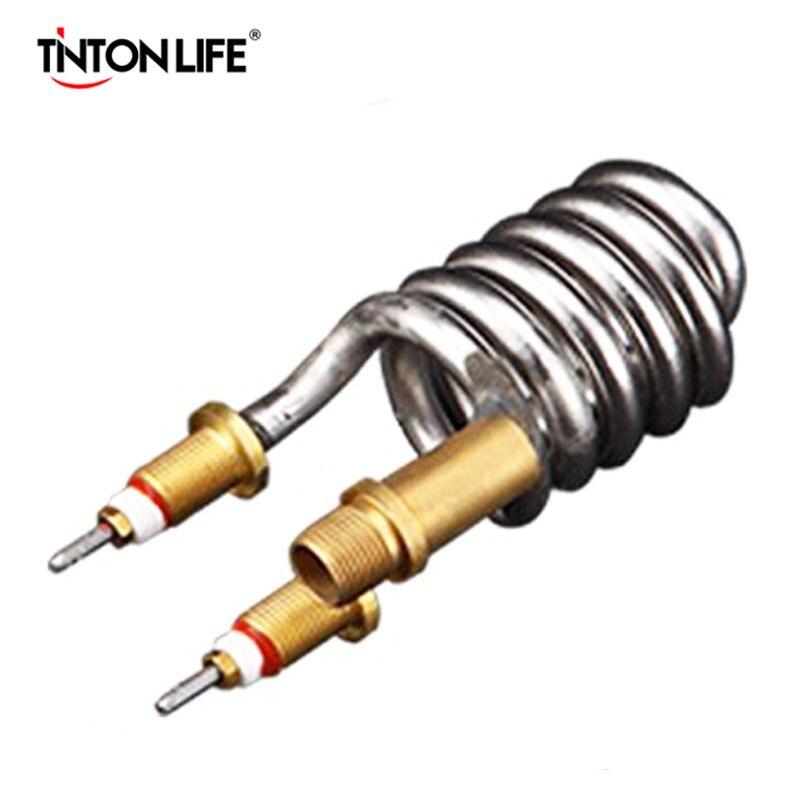 TINTON LIFE grifo eléctrico 3000 W elemento calentador 304 Acero inoxidable elemento calentador de agua tubo de calentador de agua caliente instantánea partes