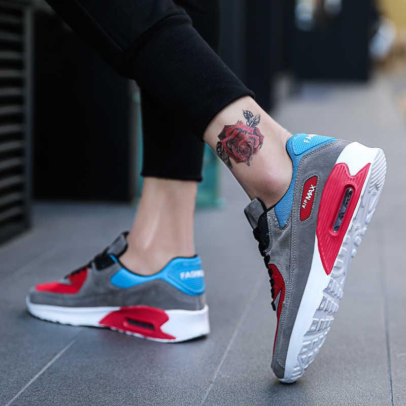GOODRSSON, zapatos informales de malla de aire para hombre, zapatillas antideslizantes planas antideslizantes de cuero para hombre, zapatillas deportivas para correr al aire libre, zapatillas deportivas para hombre