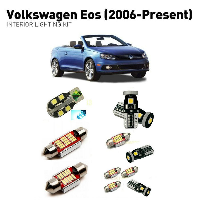 Led interior lights For volkswagen eos 2006 12pc Led Lights For Cars lighting kit automotive bulbs Canbus in Car Light Assembly from Automobiles Motorcycles
