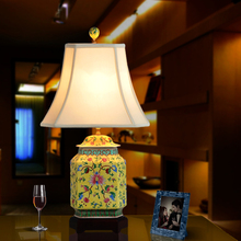 Buy porcelain lamp shades and get free shipping on aliexpress art chinese porcelain ceramic table lamp bedroom living room wedding table lamp jingdezhen lamp shades for aloadofball Choice Image