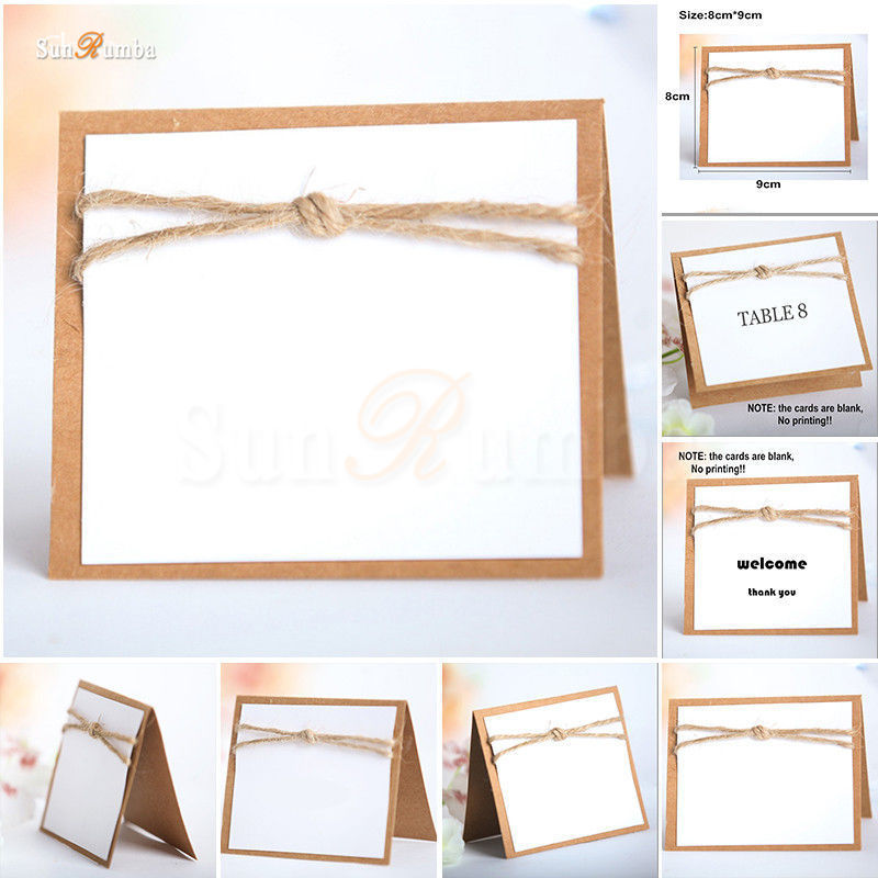 20pcs Blank Table Number Cards Invitations Direction Signs Supplies Table Numbers Card Holder Event Party Wedding Decorations
