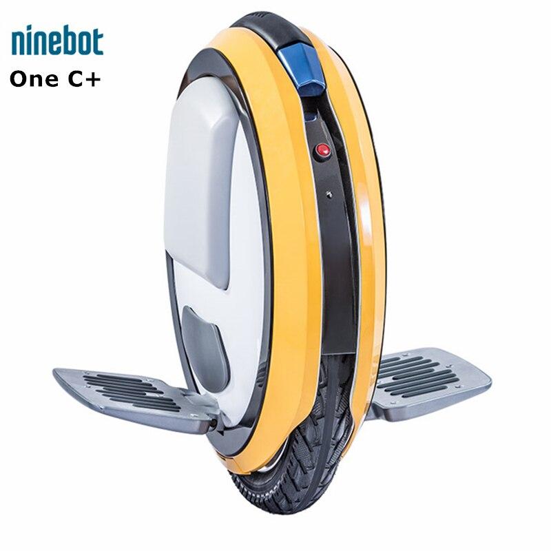 D'origine Ninebot Une C + Seule Roue trottinette auto-équilibrée scooter électrique intelligent Monowheel Brouette Hoverboard Planche À Roulettes
