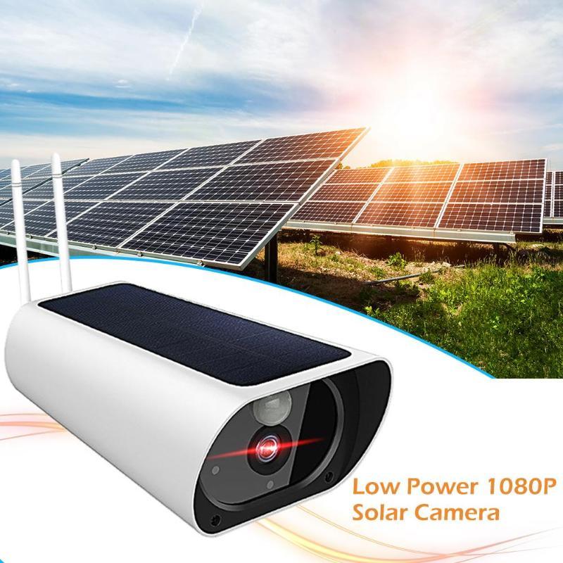1080P Солнечная камера IP камера монитор ночного видения умная веб камера Поддержка автоматического переключения режима дня и дня