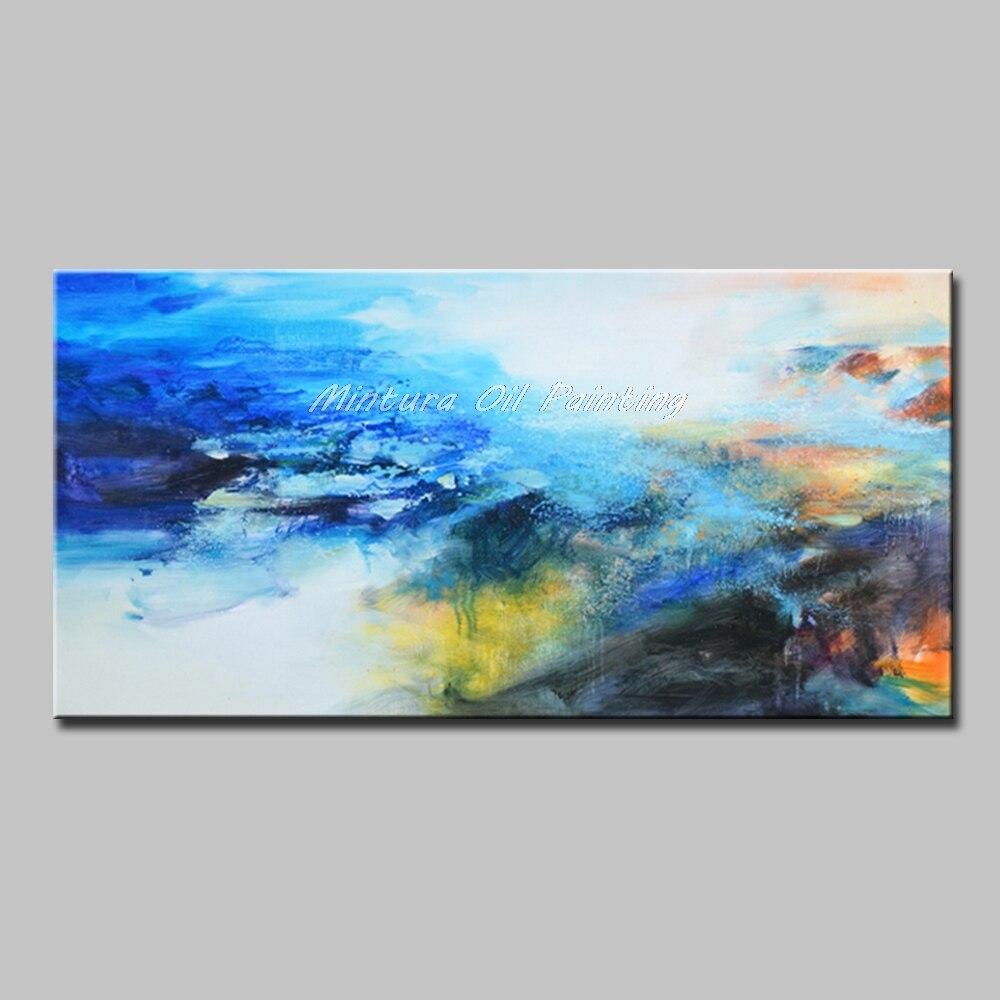 Mintura Art Большой размер Ручная роспись абстрактный пейзаж картина маслом на холсте современный настенный Декор картина для гостиной без рамы - Цвет: MT161271