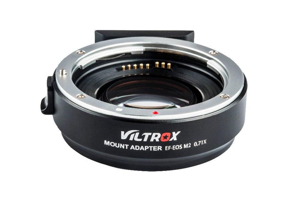 Viltrox EF-EOS M2 AF Auto-focus EXIF 0.71X réduire la vitesse Booster adaptateur d'objectif Turbo pour objectif Canon EF vers appareil photo EOS M5 M6 M50