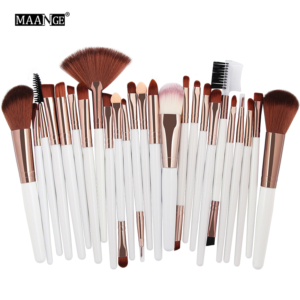 MAANGE 25pcs Makeup Brushes Set Beauty Foundation Power Blush Eye Shadow Brow Lash Fan Lip Face Make Up kabuki Tool Brush Kit 25 20pcs makeup brushes beauty tool set foundation blending blush eye shadow brow lash fan lip face make up brush kabuki kit