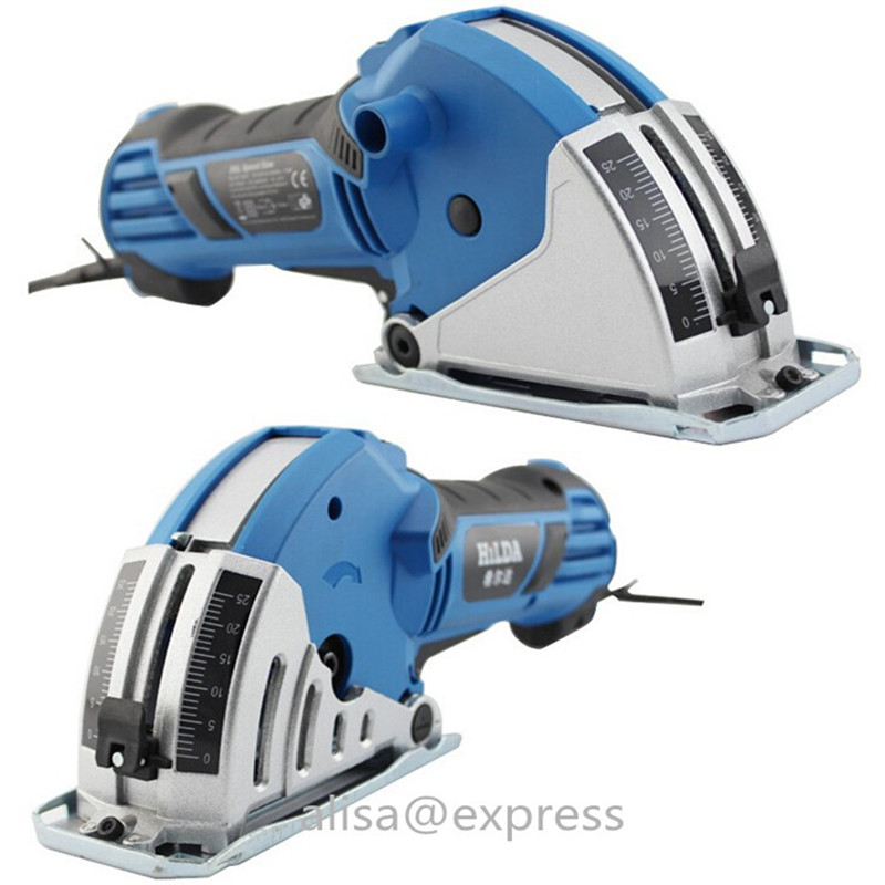 750W complete Set Mini Circular Saw Household Desktop Dual-use woodworking hand saws includ Guide rail 6 Saw Base