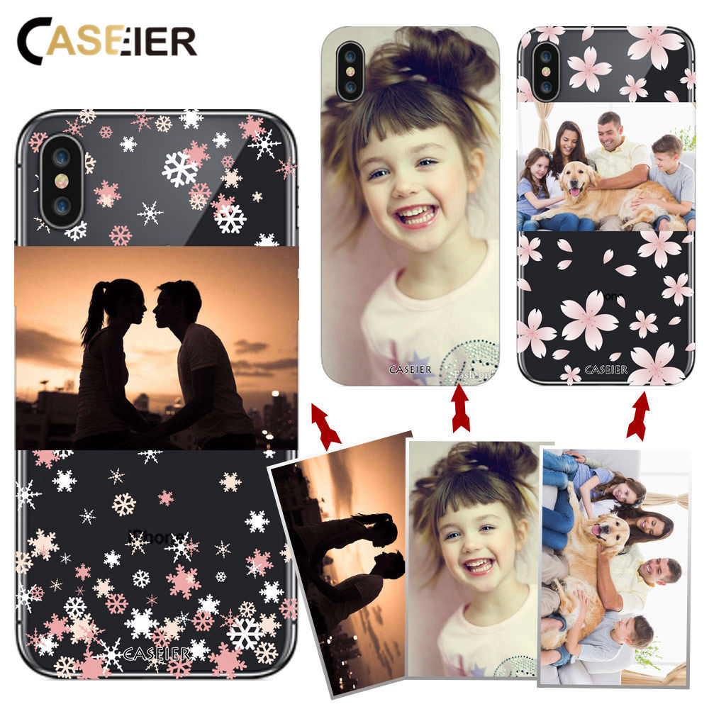 CASEIER Customized Design Photo Phone Case For iPhone X 7 8 6 6s Plus Soft TPU Cover For Samsung S8 S9 Plus Phone Accessories