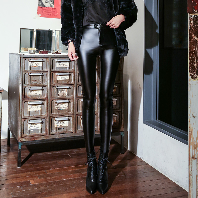 Fashion Women's Leggings Sexy Casual Cashmere New Style Leather Leg Winter Warmer Vevet Leggins Pants Trousers Woman's