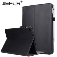 Case For IPad 9 7 2017 Genuine Leather Multi Angle Viewing Folio Stand Cover W Pocket