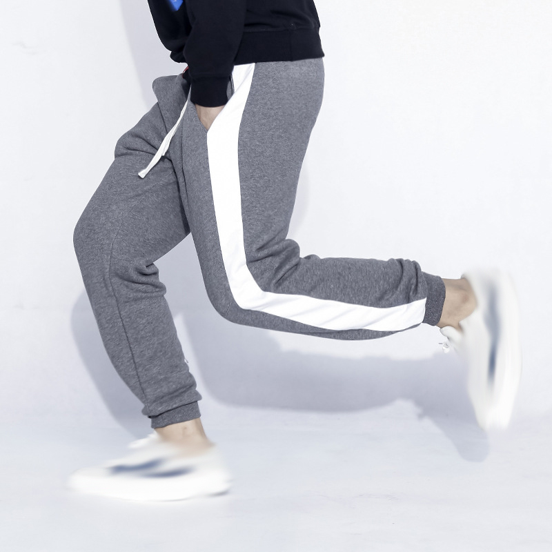 Joggers men clothes 2018 Casual Pants Men Hip hop High Quality streetwear Solid color stitching Pants Elastic Male Trousers Men
