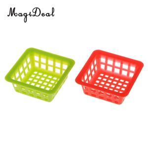 MagiDeal 1Set Kunststoff 1/12 Puppe Haus Miniatur Kleine Runde Körbe für Gemüse, Obst, Lebensmittel Lagerung Möbel Spielzeug 3 Arten